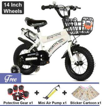 BEIQITONG [NP138] BMX Freestyle Kids Bikes 14 Inch Wheels Boy's AndGirl's Bikes With Training Wheels, Gifts For Children