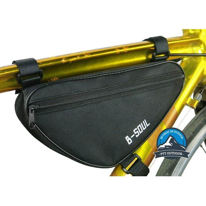 [ BEST SELLER ] B-Soul Bicycle Beam Bag Front Bag Cycling Beam Bag Men And Women Cycling Sports Beam Bicycle Bag - Black