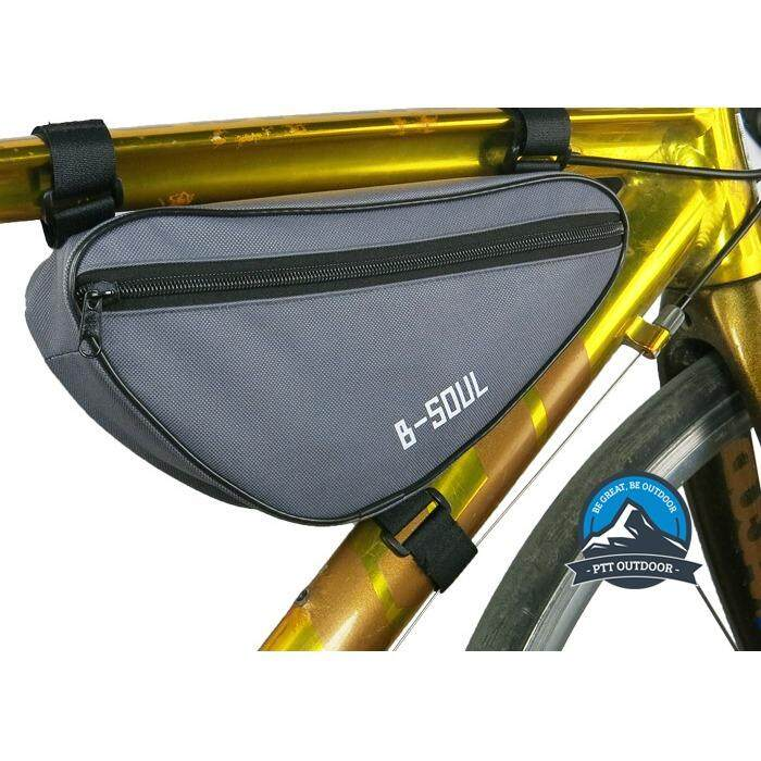 [ BEST SELLER ] B-Soul Bicycle Beam Bag Bicycle Front Bag Cycling Beam Bag Men And Women Cycling Sports Beam Bicycle Bag - Grey