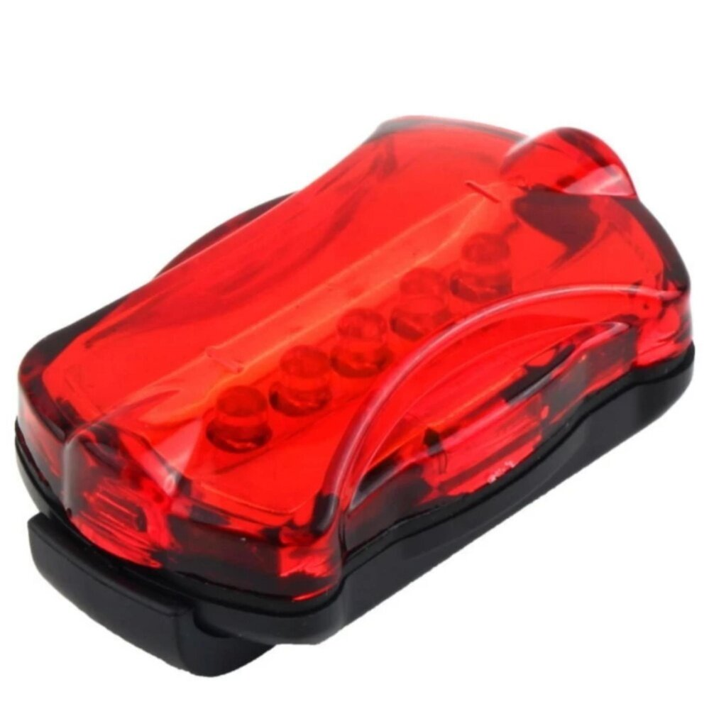 Bicycle 5-LED Super Bright Head Torch Rear Light