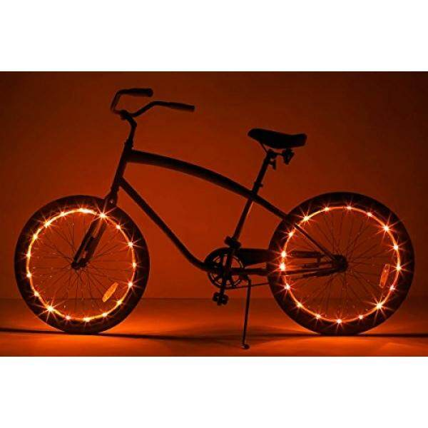 Brightz, Ltd. Wheel Brightz LED Bicycle Accessory Light (2-Pack Bundle for 2 Tires), Orange - intl