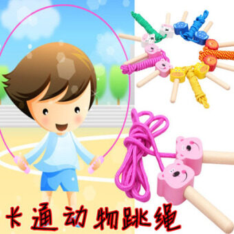 Cartoon early childhood Children's animal jump rope Children jump rope