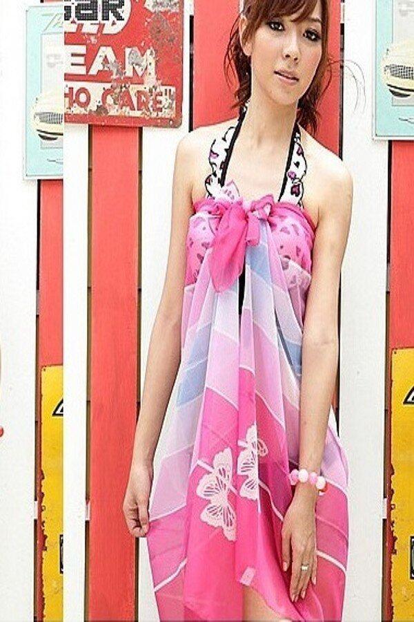 Colourful Bikini Wrap / Scarf (Design 4)