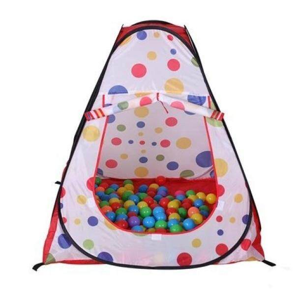Cool Idea Jumbo Red Polka Dot Teepee Twist Play Tent for Child Visibility & Tote Bag - intl