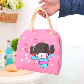 Cute portable cooler bag lunch bag Oxford Cloth takeaway lunch bagfresh bag cold bag ice pack lunch bag