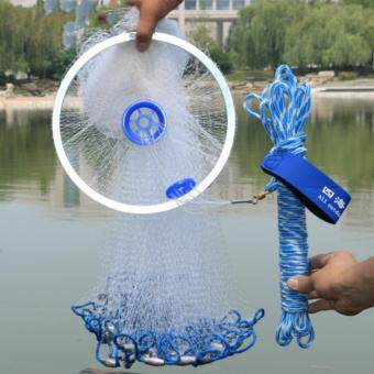Diameter 4.2M Fishing Net American Sign Cast Network Hand Net SpinNetwork Net Fishing Folding Fishing Network