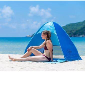EcoSport 2 Seconds Automatic Pop Up Instant Portable Outdoors QuickCabana Beach Tent (Blue)