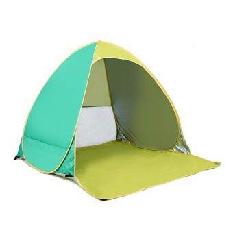 EcoSport 2 Seconds Automatic Pop Up Instant Portable Outdoors QuickCabana Beach Tent (Green)