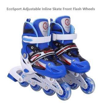 EcoSport Adjustable Inline Skate Front Flash Wheels (Blue)