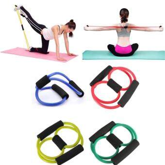 Ecosport Exercise Latex Yoga Resistance Band Tube Stretch Body Fitness Muscle Workout Exercise 8 Shape