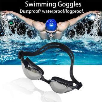 EsoGoal Swim Goggles Swimming Anti Fog UV Protection Waterproof Diving Glasses with Case (Black)