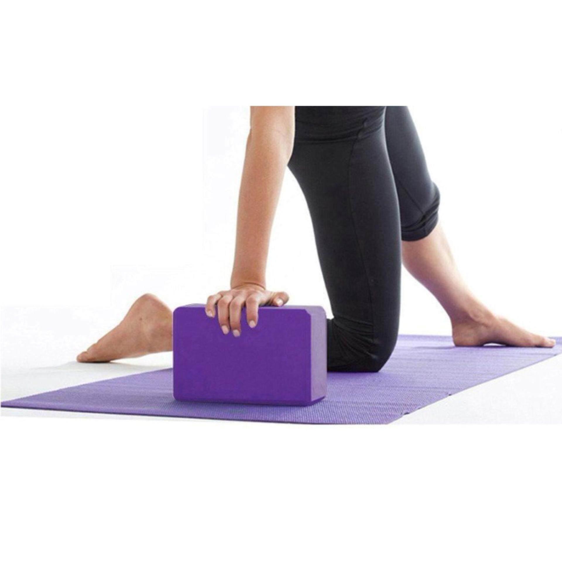 EVA Yoga Block Brick Foaming Foam Home Exercise Fitness Health (Purple)