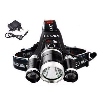 Harga FFY 6000lm LED Headlight Flashlight CREE XM-L T6 LED Headlamp Light4 Mode Flashlight Torch Hunting Spotlight Head Lamp+EU Charger