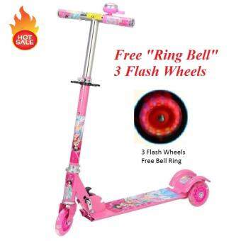 Harga Foldable Children Tri Wheel Scooter (Free Ring Bell and FlashWheels)