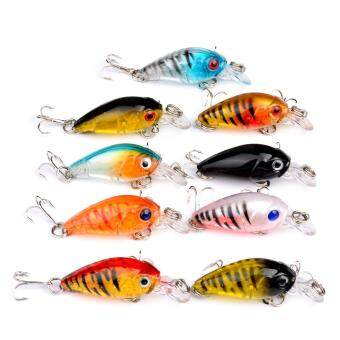 Hard Fishing Lures 9pcs Topwater Lures & Crankbaits Gear forFreshwater Fishing Tackle Lure Kit Set - 3