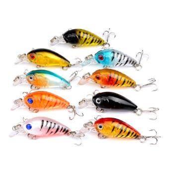 Hard Fishing Lures 9pcs Topwater Lures & Crankbaits Gear forFreshwater Fishing Tackle Lure Kit Set - 2