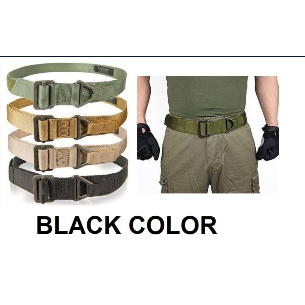 Heavy Duty Black Hawk Military Combat Tactical Rescue Rigger Belt (Same version with Army belt)