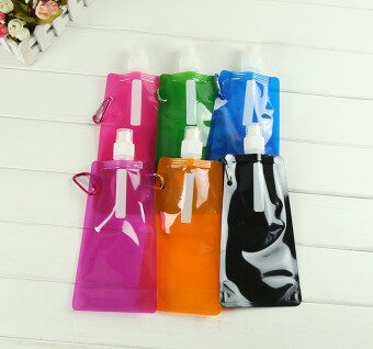 Harga New Creative Fashion Explosions Korean Version of Creative Sports Bottle Folding Bag My Bottles Sport - black