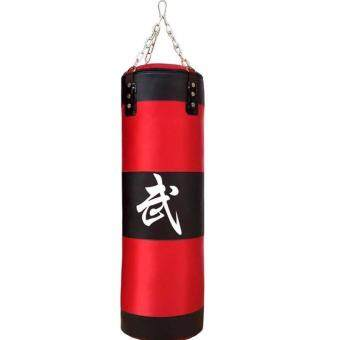 Harga 100cm Punching Bag with FILLING and Hook Hanging for Boxing Training Fitness (Red)