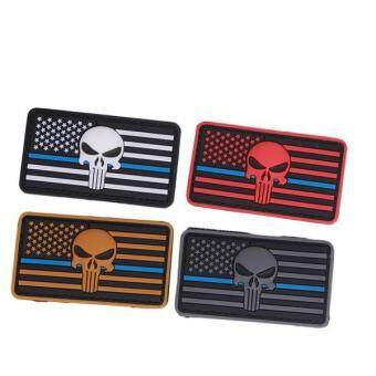 Harga Ai Home Rectangle America Flag Tactical Patch Armbands Badge (Grey)