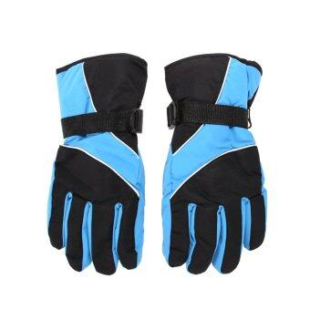 Harga Men Ski Gloves Waterproof (blue)
