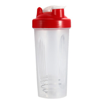 Harga BPAfree Shake Protein Blender Shaker Mixer Cup Drink Whisk Bottle Red 600ml