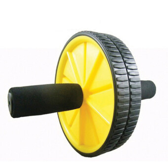 Harga PRADO Fitness Double Roller Exercise AB Wheel Fitness Abs Core Abdominal Yellow