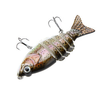 "Harga LIXADA 10cm 4"" 21g Multi Jointed Fishing Hard Lure Bait Swimbait Life-like with Treble Hooks"