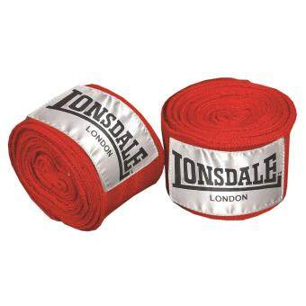 Harga Lonsdale Unisex 3.5m Comfortable Fit Hook Loop Tape Traning Pro Handwraps Red