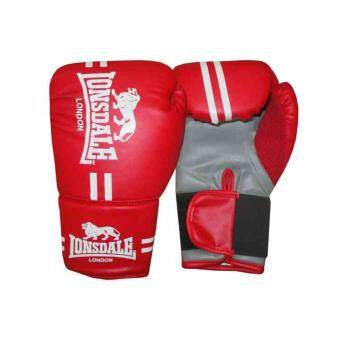 Harga Lonsdale Contender Gloves Boxing Kick MMA Hand Wraps Mitts Fight Training Red