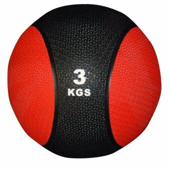Harga RUBBER MEDICINE BALL gym fitness 3kg (RED)