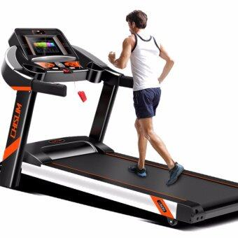 Harga Powerful 4.0HP Chislim S500 Luxury Single function 7 Inch Touch Screen WIFI LCD Treadmill + 15 Levels Electric Incline Decline + 4 Way Spring Damping System