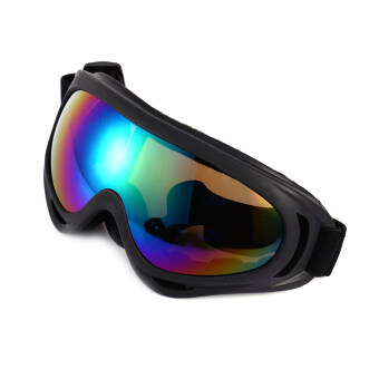 Harga Anti fog Dust Wind UV Ski Goggles Helmet Ski Sunglasses Glasses(Colorful)