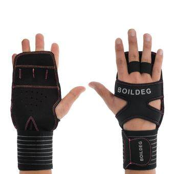 Harga Professional Fitness Gloves with Wrist Support, Extreme Breathability and Perfect Protection for Cross Training Gym Workouts