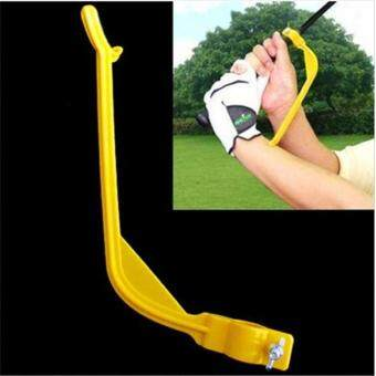 Harga Ai Home Golf Beginner Gesture Alignment Tools Swing Trainer (Yellow)