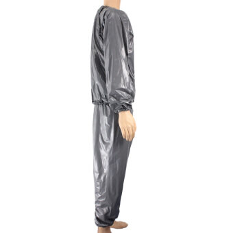 Harga Sports Outdoors Sauna Suits Fitness Loss Weight Sweat Suit Sauna Suit Exercise Gym Size L Grey