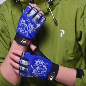 Harga Gym Gloves for Men Protect Your Hands & Improve Your Grip -Weightlifting Gloves - Easy To Pull on & Off Blue