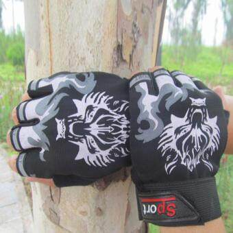 Harga Gym Gloves for Men Protect Your Hands & Improve Your Grip -Weightlifting Gloves - Easy To Pull on & Off Black