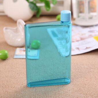 Harga A5 Notebook - Flat - Transparent - Reusable Plastic Water Bottle - 420ml (Blue)
