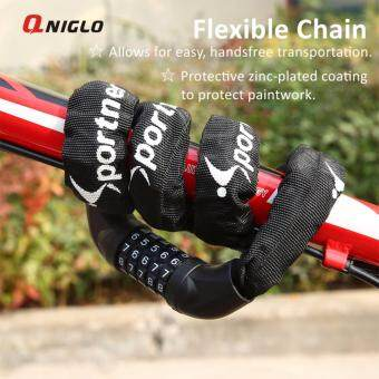 Harga QNIGLO Bike Lock Cable, Bicycle Chain Lock, 5-Digit Resettable Combination Bicycle Cable Lock Bike Locks