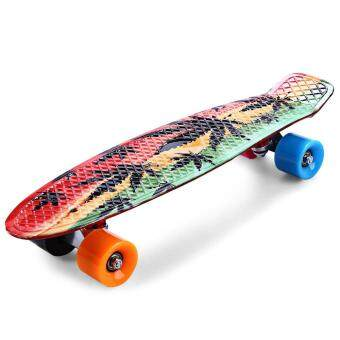 Harga CL-24 Printing Maple Leaf Skateboard Complete 22 Inch Retro Cruiser Long Board Skatecycle For Child