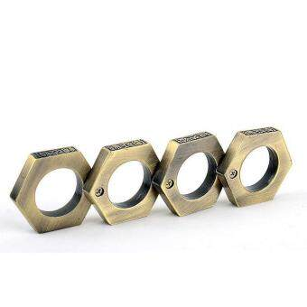 Harga SellinCost 3D Full Steel Movable Self Defence Kung Fu Solid Punching Ring Rings Hexagon Bronze