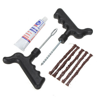 Harga Car Bike Bicycle Motorcycle Tubeless Tire Tyre Puncture Plug Repair Kit Tool New