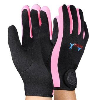 Harga Scuba Diving Neoprene Snorkeling Water Sports Gloves Black Pink S