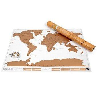 Harga Fancyqube Scratch Off Map Personalized World Map Poster Travel Vacation