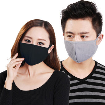 Harga Dust Masks,3 x Greenery Cotton and Active Carbon Filtering Mask with earloops Anti Dust Anti Virus Flu Face Mouth Mask Reusable Mask to Prevent Dust and Pollution