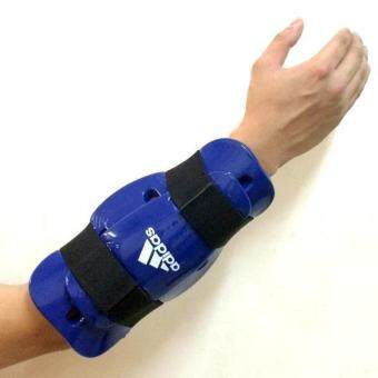 Harga Adidas Taekwondo Karate Silat ITF Gear Glove Arm Foot Forearm Guard BLUE S