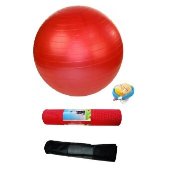 Harga EcoSport Yoga Starter Kit With Yoga Ball and Yoga Mat (Red)