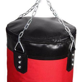 Harga 80cm Punching Bag with FILLING and Hook Hanging for Boxing Training Fitness (Red)