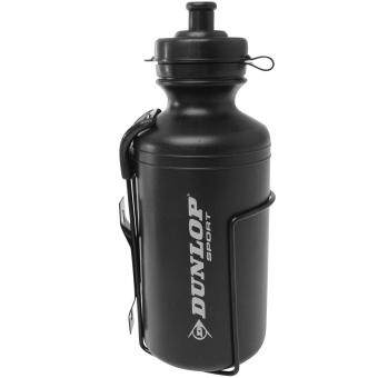 Harga Dunlop Unisex Drink Hydration Outdoors Running Water Bottle and Cage 500ml Black